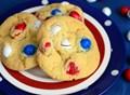 Patriotic peanut M&M cookies