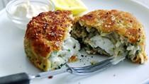 Pea and salmon fishcakes