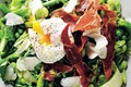 Pea, prosciutto and broad bean salad