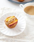 Peach ginger muffins