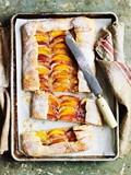 Peach tray tart