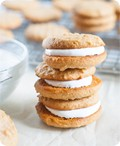 Peanut butter and honey sandwich cookies