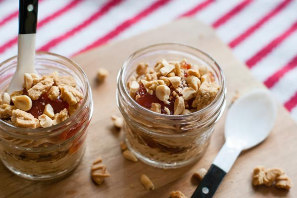Peanut butter & jelly parfaits