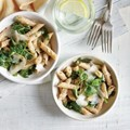 Penne with ricotta and greens