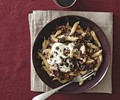 Penne with ricotta, caramelized onion, and radicchio