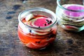 Pickled watermelon radishes