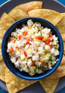 Pineapple salsa with jicama