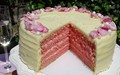 Pink velvet bubbly Champagne cake