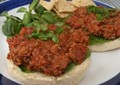 Pinto bean and quinoa sloppy Joes