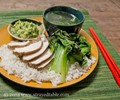 Poached soy chicken with ginger sauce