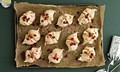 Pomegranate meringues with pistachio nuts