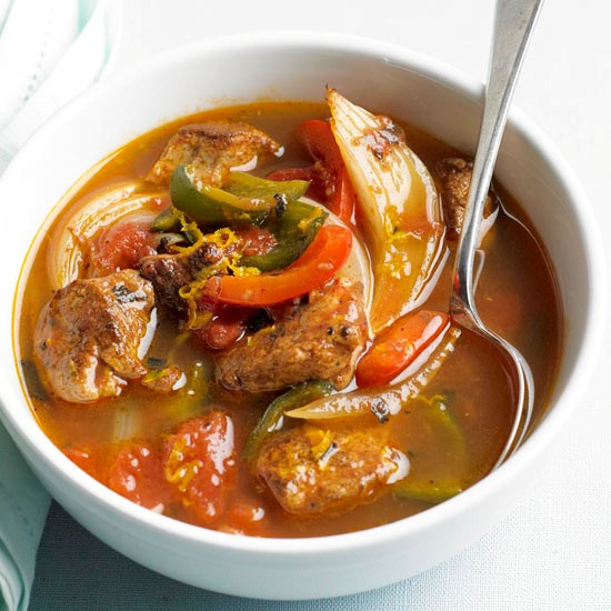 Pork and poblano stew (page 148)