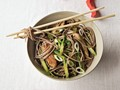 Pork, asparagus, and soba from 'The VB6 Cookbook' (Cook the Book)