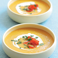 Potage Crécy with peppadew peppers