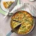 Potato and asparagus frittata