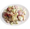 Potato salad with shrimp, celery, and tarragon