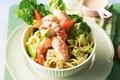 Prawn cocktail and pasta salad