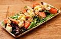 Prawn, melon and rocket salad
