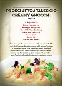 Prosciutto and Taleggio creamy gnocchi