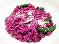Psychedelic purple risotto