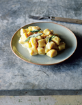Pumpkin gnocchi with Gorgonzola sauce (Gnocchi di zucca al Gorgonzola)