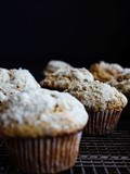 Pumpkin muffins with pepita sugar