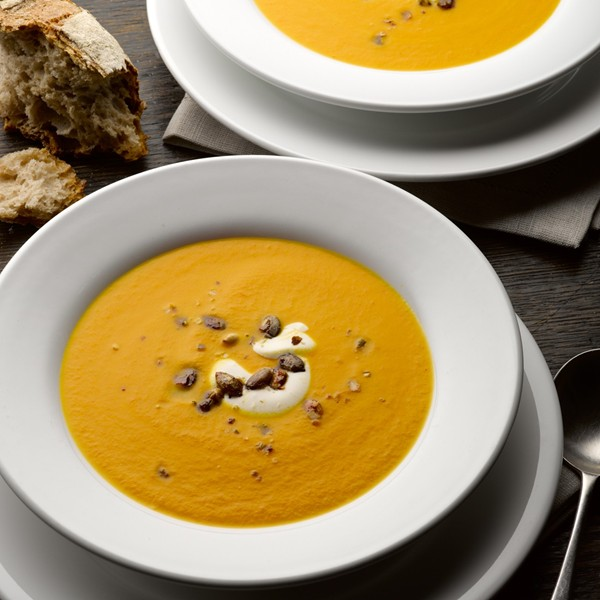 Pumpking saffron orange soup by Ottolenghi