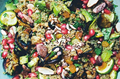 Quinoa, almond & mint salad