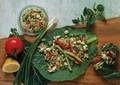 Quinoa and goat cheese collard rolls