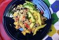 Quinoa, black bean, and mango salad with lime vinaigrette