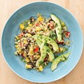 Quinoa, black bean, and mango salad