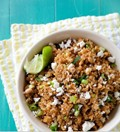 Quinoa pilaf with chipotle, queso fresco and lime