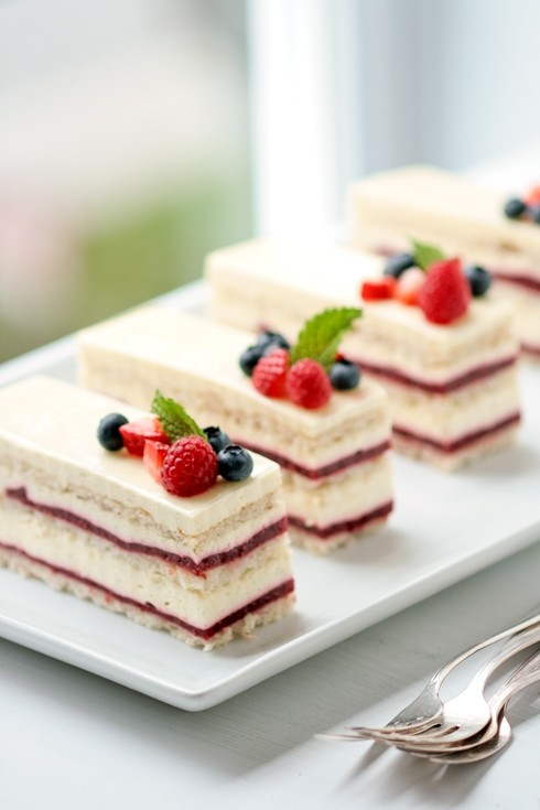 Raspberry And Vanilla Dobos Torte Recipes — Dishmaps