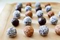 Raw chocolate hazelnut trufflese