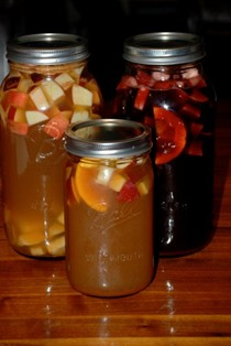 Red spiced apple sangria