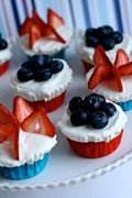Red, white & blue ice cream cupcakes