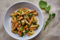Red whole-wheat penne