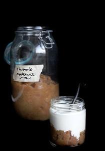 Rhubarb Applesauce with muscovado sugar