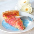 Rhubarb coconut honey tart