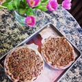 Rhubarb walnut crumble pie