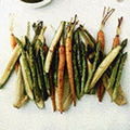 Roast baby vegetables with bagna cauda