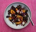 Roast pumpkin, kale, feta & pomegranatesalad