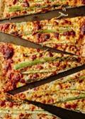 Roasted asparagus & ricotta pizza