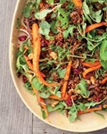 Roasted carrot and red quinoa salad