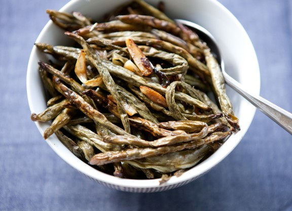 Roasted Green Beans And Scallions Recipe — Dishmaps