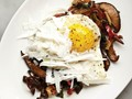 Roasted mushrooms with bacon and eggs from 'Downtown Italian' (Cook the Book)