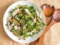 Roasted oyster mushroom and watercress salad