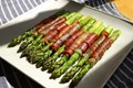 Roasted prosciutto-wrapped asparagus