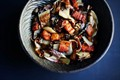 Roasted radicchio, speck and balsamic salad