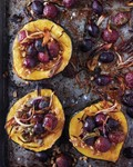 Roasted squash with shallots, grapes, and sage